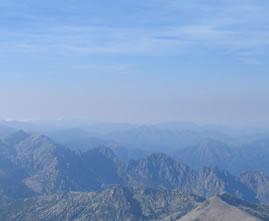 Montagne en Corse vue panoramique